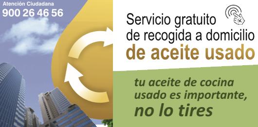 RECOGIDA GRATUITA DE ACEITE USADO