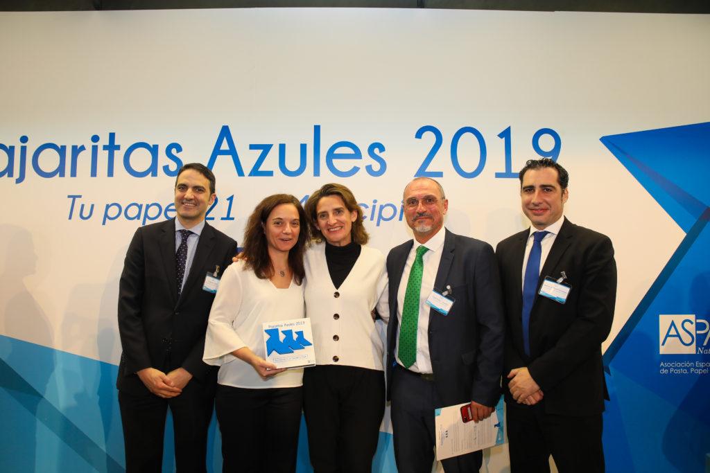 LYMA RECIBE TRES PAJARITAS AZULES POR SUS EXCELENTES DATOS EN LA RECOGIDA DE PAPEL Y CARTÓN