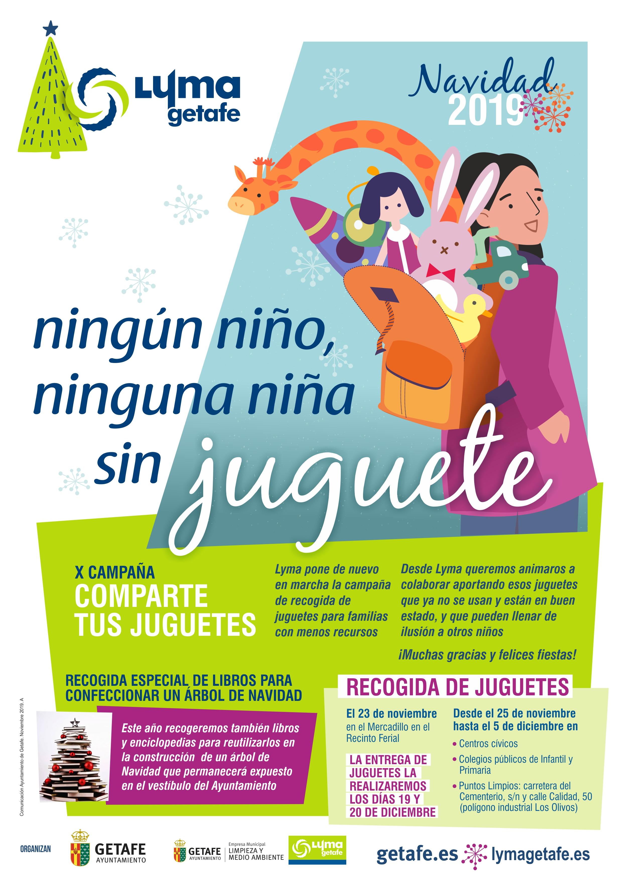 El ayuntamiento de getafe comienza mañana la campaña 'ningún niño, ninguna niña sin juguete'