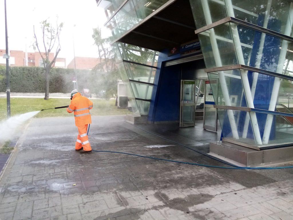 2.285.718 de litros de desinfectante para garantizar la limpieza de calles y centros públicos de Getafe